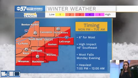 Winter storm with heavy snow reaches Michiana this evening