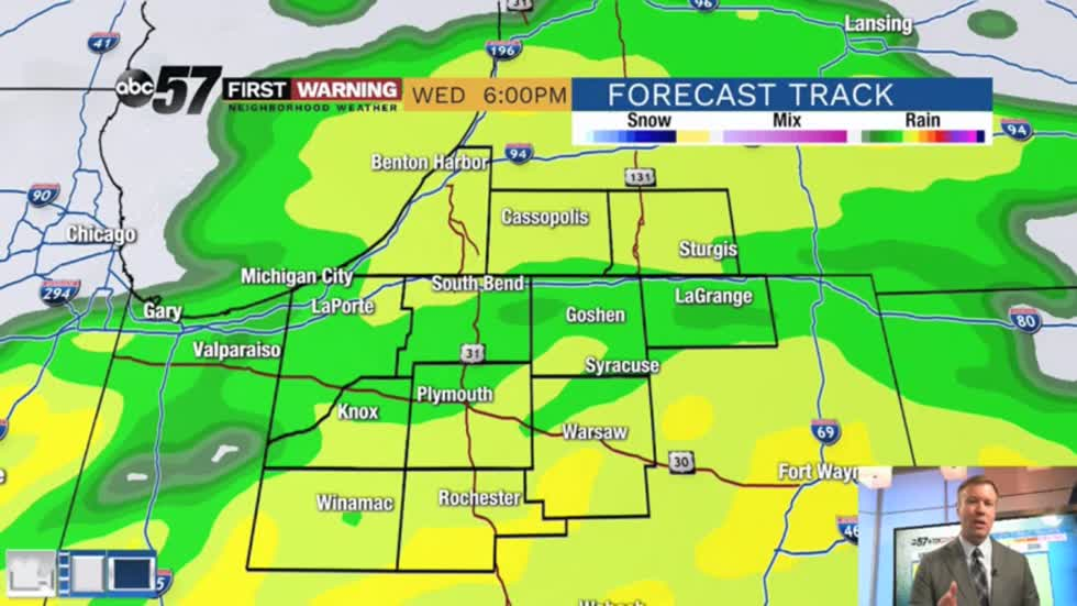 Rainy midweek, first thunderstorms of 2020 possible Thursday