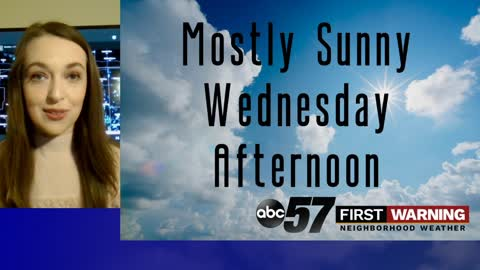 Mostly sunny and warmer Wednesday; rain chances starting Thursday