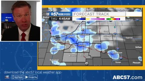 No foolin', a chance of snow Thursday