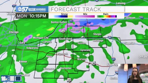 Quiet Sunday; precipitation turning wintry this week