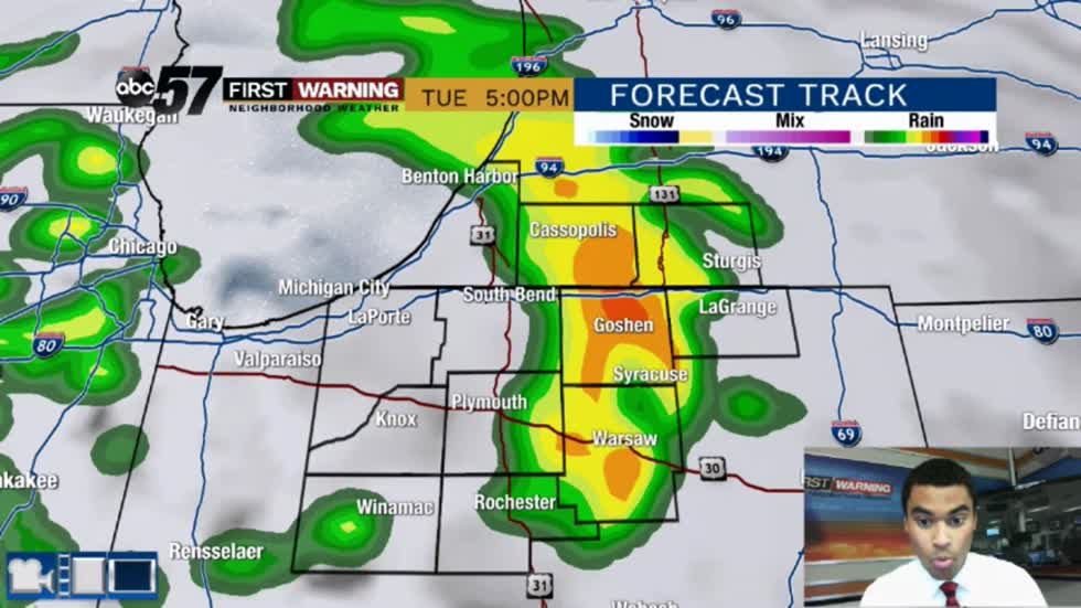 Wet weather pattern through Thursday