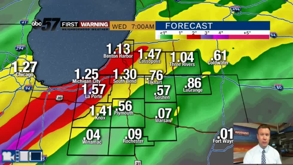 Wet week continues, heavy rain and flood threat into Wednesday