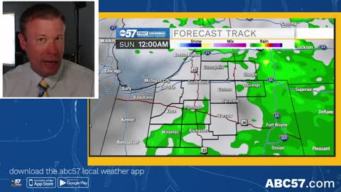 Few chances of rain as forecast trends drier