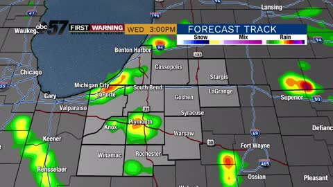 Scattered storm chances continue; slight cooling trend in place