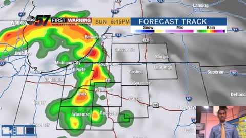 Storms arriving late to end weekend