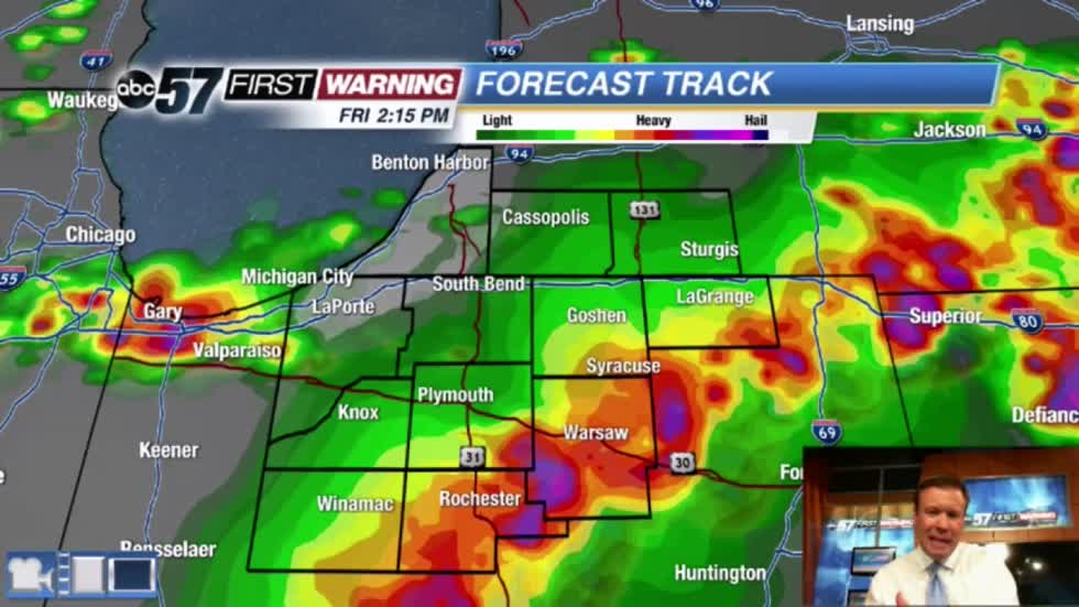 Storms possible through midday Friday