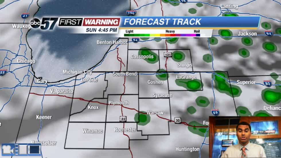 A few showers and storms today; some could be strong