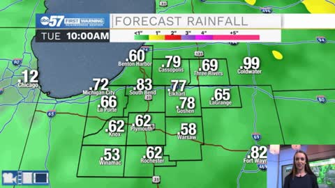 Adding to rain totals Sunday and Monday