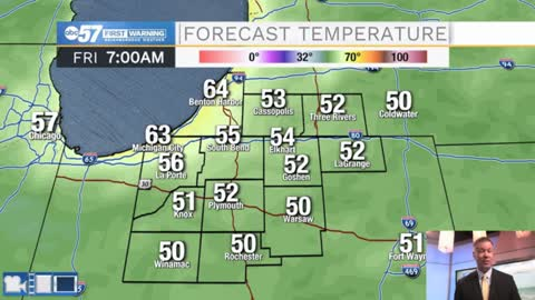 Falling temperatures into Friday, warm again this weekend