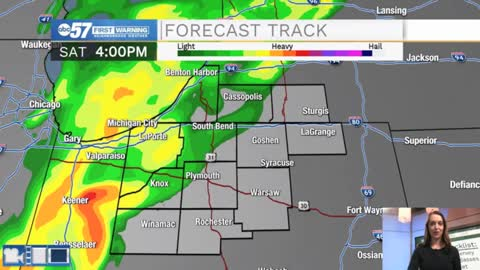 Rain and isolated thunderstorms could impact Notre Dame Football late today