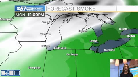 Mostly dry week; wildfire smoke returns to Michiana Monday