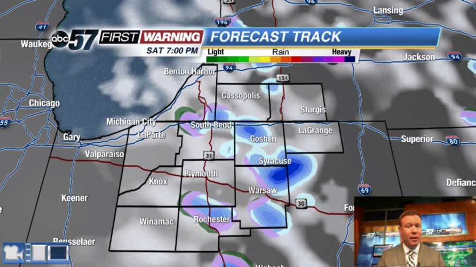 Rainy and breezy Saturday, a few flakes possible
