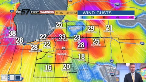 Still breezy through Tuesday