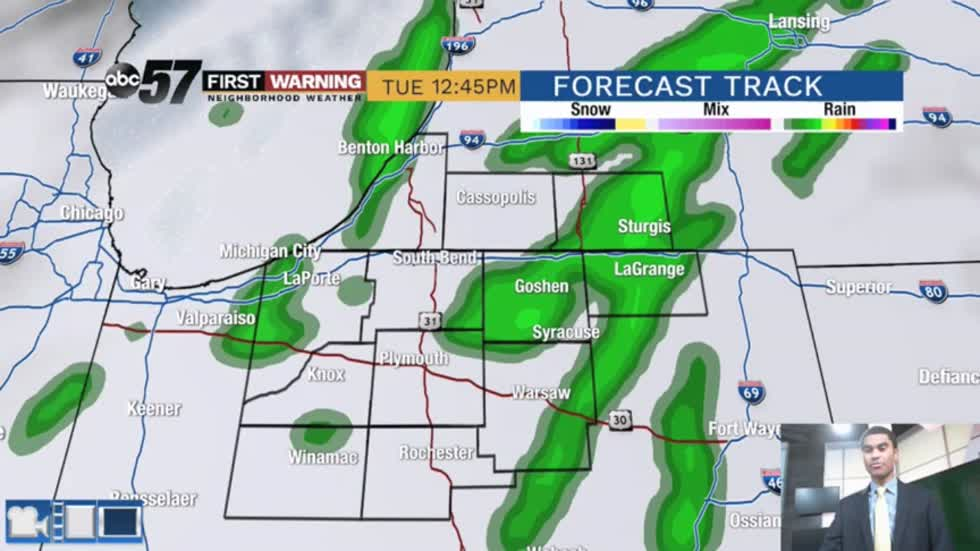 Morning showers with more rounds of rain likely