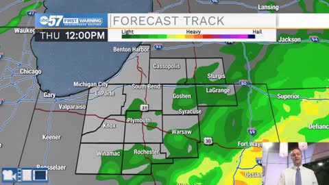 Rain showers possible through mid-morning Friday