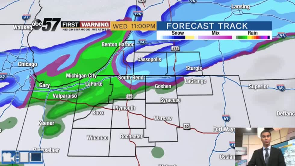 Rain and snow chances increasing this week