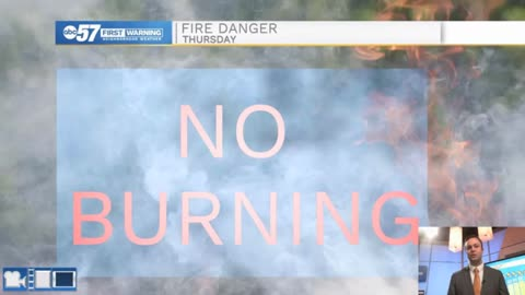 High fire danger today due to strong winds
