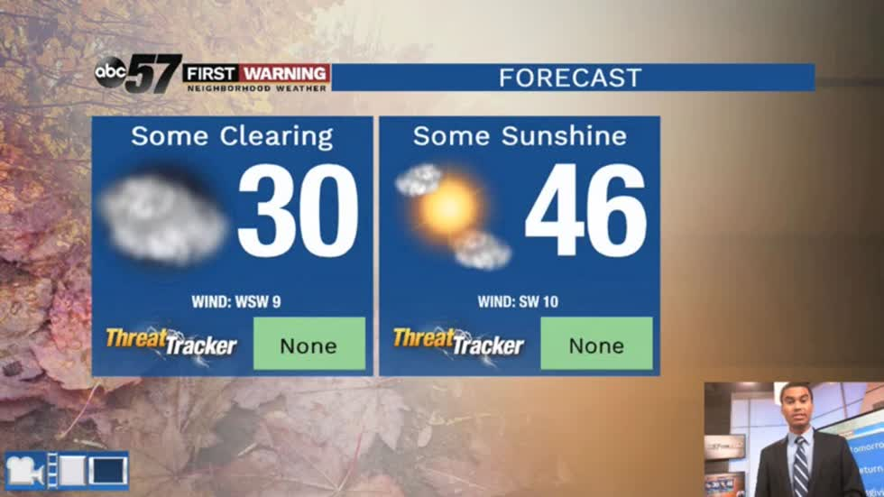 More sunshine and the 50s on the way