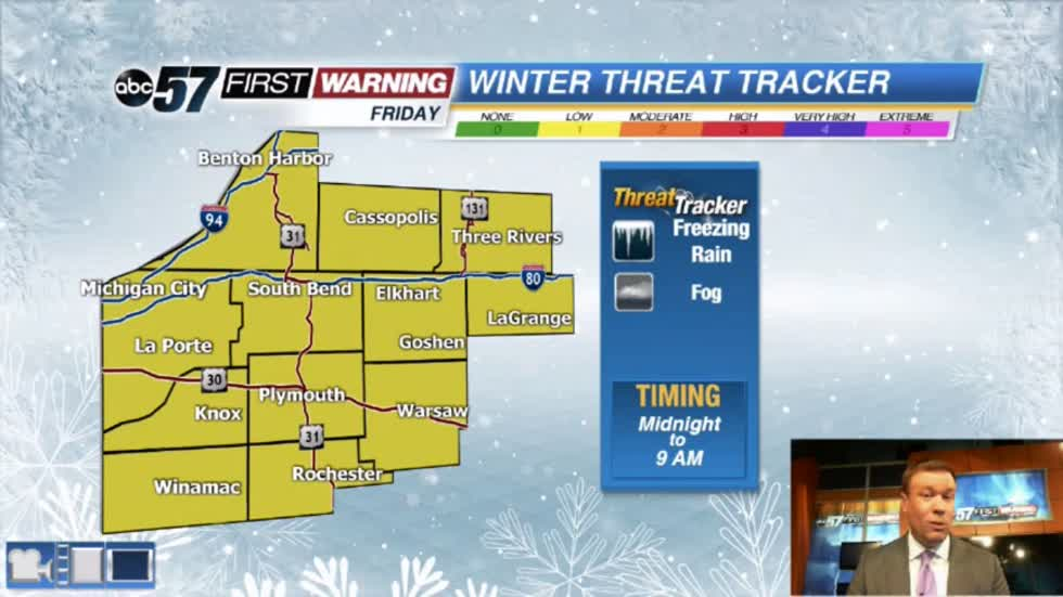 Freezing drizzle possible Friday morning