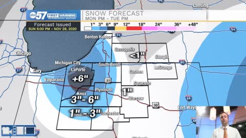 Heavy snow for portions of Michiana tomorrow