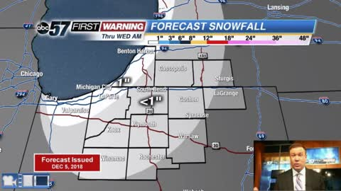 Staying cold, light snow through midweek