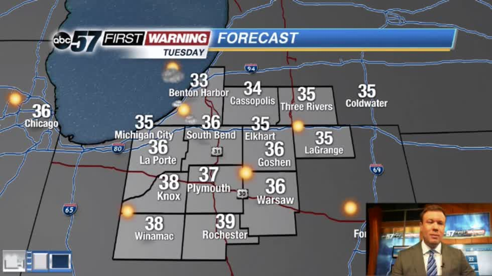 Cold and clear weather continues Tuesday