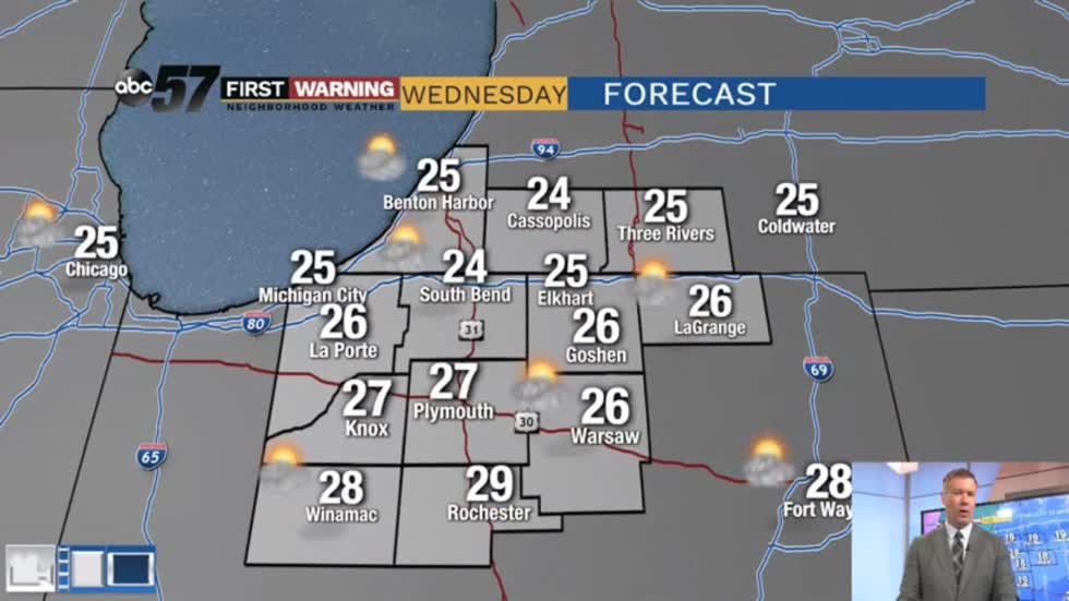Cold Wednesday, then back to 'milder' December weather
