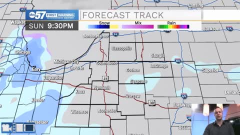 Snow showers move out of Michiana tonight
