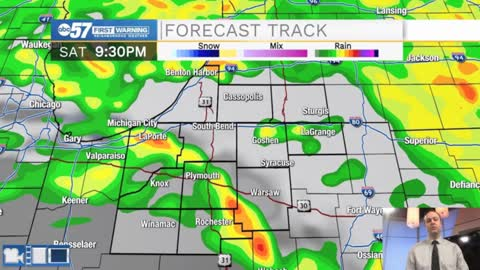 Rain showers will impact Michiana through the weekend