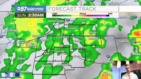 Scattered showers tonight, More rain chances heading into next week