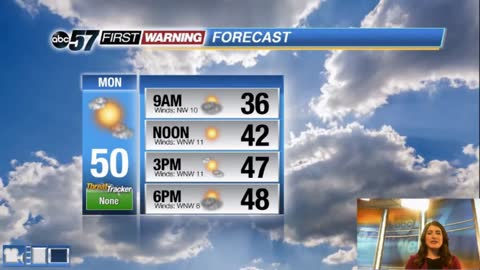 Brighter skies today - warm with rain chances mid-week