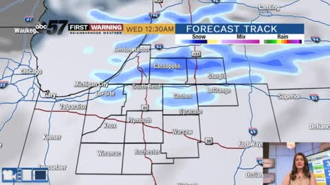 Chance of flurries and cold Wednesday