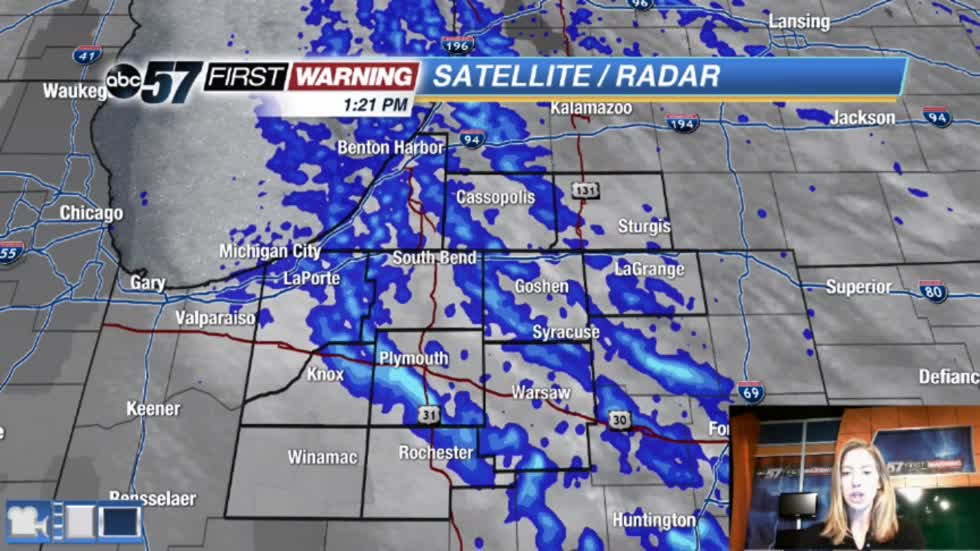 More lake effect snow, heavy at times
