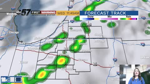 Couple of rain chances and swings in temperatures