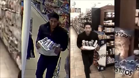 David Schwimmer spoofs video of doppelganger stealing beer