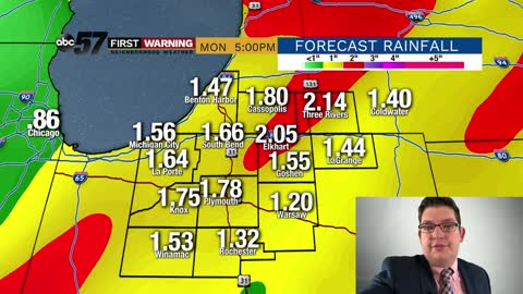 Dry Saturday before heavy rain/flooding possible Sunday