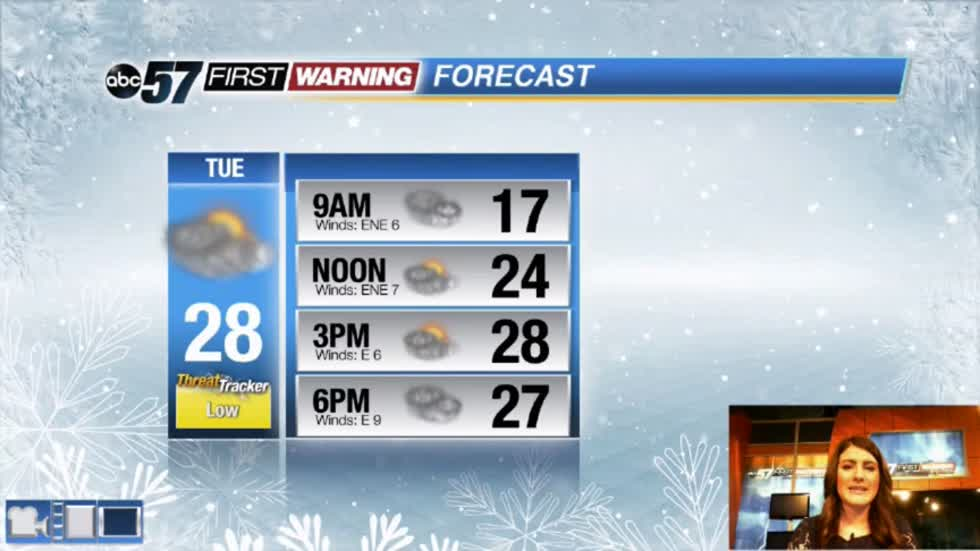 Few chances for snow and wintry mix