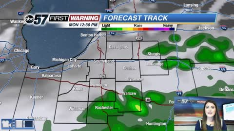 Few showers with sunshine returning midweek