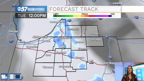 Lake effect snow tapers off but breezy