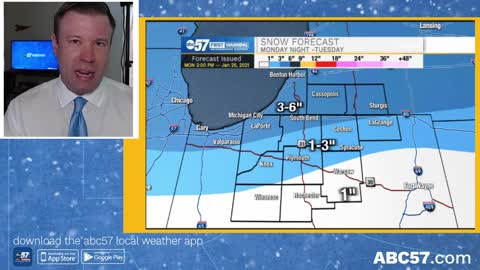 Monday night's winter storm