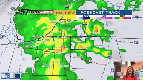 Rain returns late followed by a cool, damp and windy Thursday