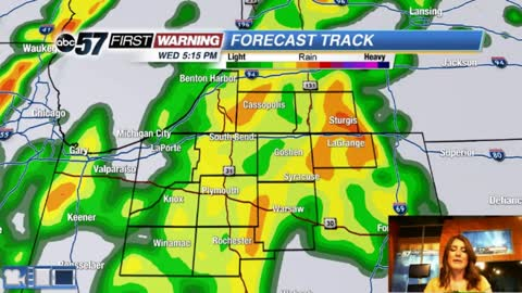 Rainy today with a big drop in temperatures ahead