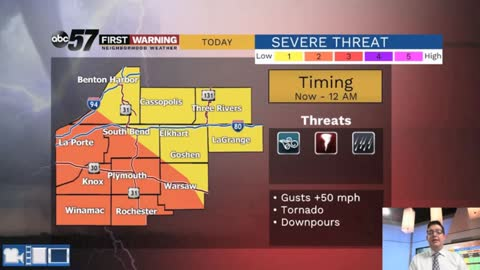 Severe weather possible Tuesday evening