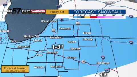 Snow adds up tonight into Friday morning