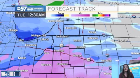Snow showers start this evening, slick roads and periods of heavy snow possible