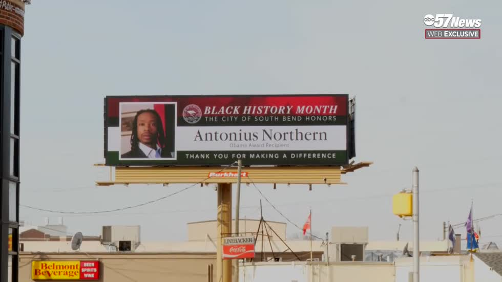 South Bend billboards featuring local leaders for Black History Month