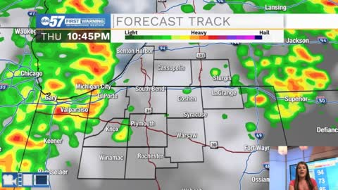 Storms this evening bring some relief from the heat