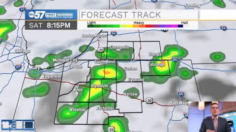 Topsy-turvy temperatures and more rain headed for Michiana