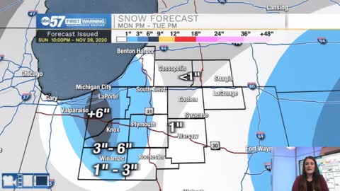 Tracking lake effect snow and gusty wind